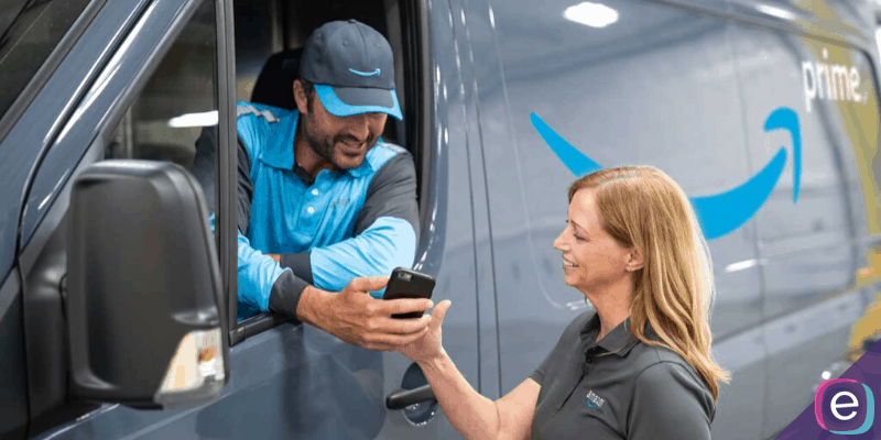 Amazon delivery driver and client