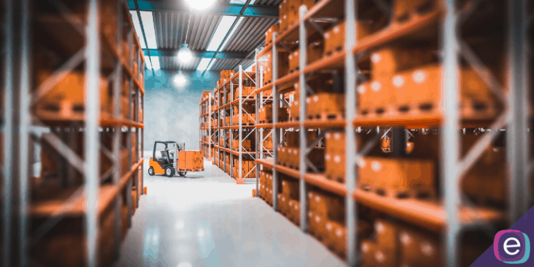 forklift in amazon fulfillment warehouse