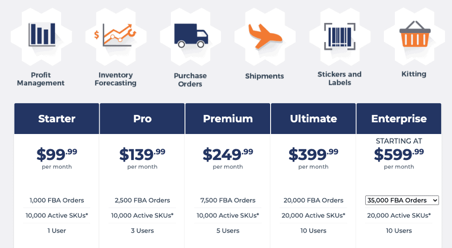 RestockPro by eComEngine pricing page