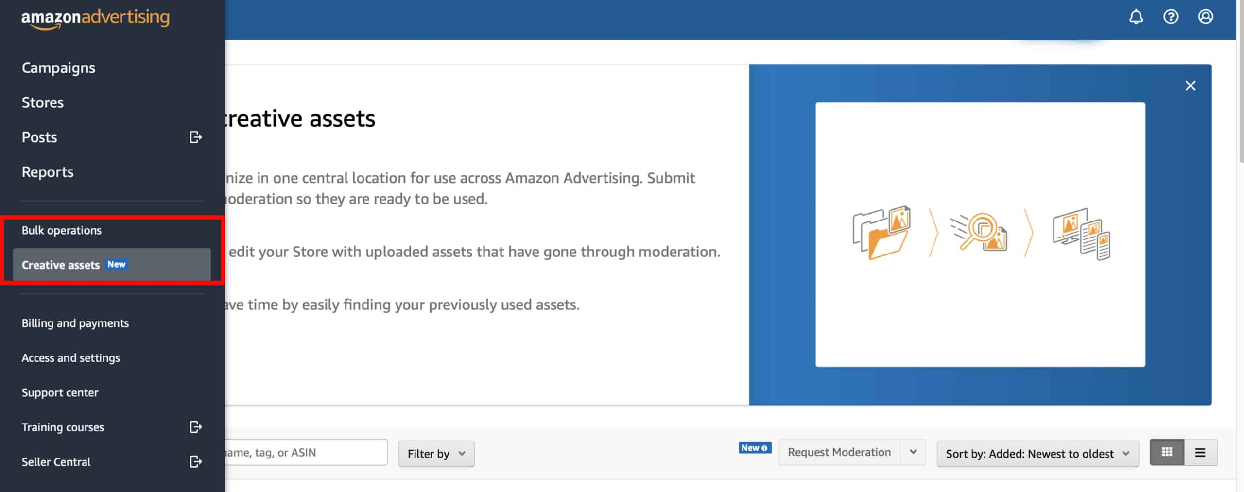 What is Amazon creative assets?